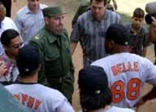 Fidel Castro and Albert Belle, 1999