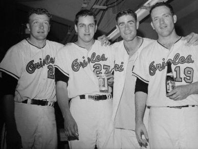 Moe Drabowsky, Wally Bunker, Jim Palmer, Dave McNally, 1966